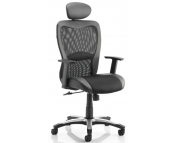 VICTOR ll MESH & LEATHER EXECUTIVE OFFICE CHAIR