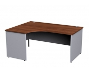 Duo Panel Leg Left Hand Ergonomic Desk