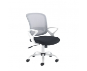 TYL-300T1 - Tyler mesh back operator chair with white frame
