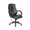 OMEGA BONDED LEATHER MANAGERS CHAIR BLACK - 48 HOUR DELIVERY