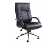 DERBY BLACK LEATHER FACED CHAIR
