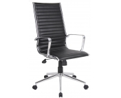 EXECUTIVE LEATHER FACED HIGH BACK CHAIR