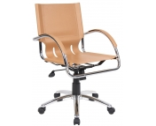 MANAGERS TAN LEATHER FACED CHAIR