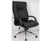 MANAGERS LEATHER FACED HIGH BACK CHAIR