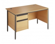 BUDGET DESK WITH 2 DRAWER PEDESTAL AND SIDE MODESTY PANEL EXPRESS NEXT DAY DELIVERY