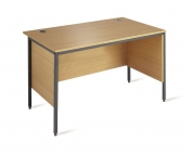BUDGET STRAIGHT DESK WITH SIDE MODESTY PANELS - EXPRESS NEXT DAY DELIVERY