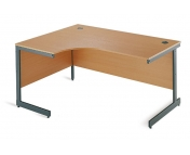 ERGONOMIC DESK WITH CANTILEVER LEG