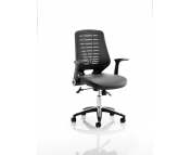 RELAY MESH OFFICE CHAIR BLACK LEATHER SEAT