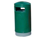 Outdoor Hooded Top Bin 75 Litre Green