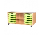 5 TRAY 10 TRAY TRIPLE WITH SHELF EDUCATIONAL