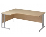25MM ERGONOMIC SILVER LEG DESK