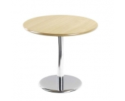 ROUND CHROME LEG BISTRO TABLE