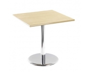 SQUARE CHROME LEG BISTRO TABLE
