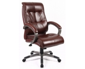 CATANIA MANAGERS LEATHER FACED HIGH BACK CHAIR