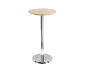 TALL CHROME LEG BISTRO TABLE