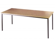 RECTANGULAR GRAPHITE LEG TABLE