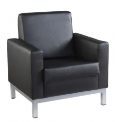 LEATHER FACED RECEPTION SEATING