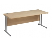 25MM STRAIGHT SILVER LEG DESK