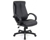 NANTES MANAGERS LEATHER FACED CHAIR BLACK EXPRESS NEXT DAY DELIVERY