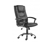 SOMERSET LEATHER FACED HIGH BACK CHAIR