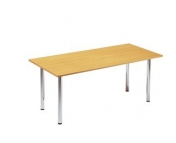 RECTANGULAR CHROME LEG TABLE