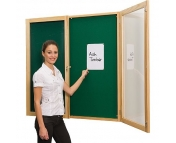 Space Right Decorative Wood Frame Tamperproof Noticeboards Single Door