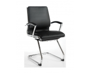 LEATHER FACED EXECUTIVE VISITOR CHAIR - PLEASE CALL FOR PRICES