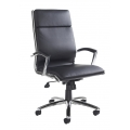 FLORENCE BLACK LEATHER FACED CHAIR