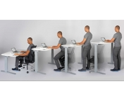 Sit and stand desking