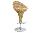 RATTAN EFFECT ADJUSTABLE BARSTOOL