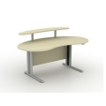 KIDNEY RECEPTION DESK WITH WOODEN SHELF