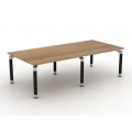 RECTANGULAR BOARDROOM TABLE SOLO LEGS (Glass optional)