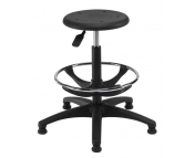 INDUSTRIAL P.U STOOLS WITH FOOT REST