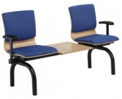 BEAM SEATING ROUND FRAME BLACK WITH TABLE